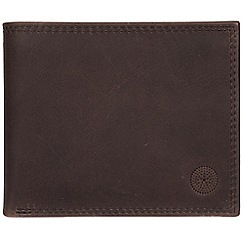 Conkca London - Anthracite brown 'Jared' handcrafted leather wallet