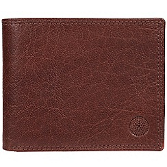 Conkca London - Conker brown 'Jared' handcrafted leather wallet