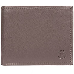Conkca London - Taupe grey 'Jared' handcrafted leather wallet