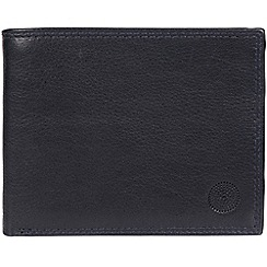 Conkca London - Navy 'Jared' handcrafted leather wallet