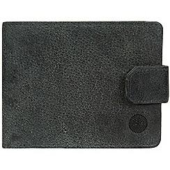 Conkca London - Navy 'Beckett' Fine Leather Wallet
