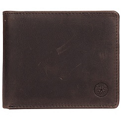 Conkca London - Antique black 'Anders' handcrafted leather wallet