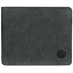 Conkca London - Navy 'Anders' handcrafted leather wallet