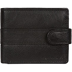 Conkca London - Black 'Roth' bi-fold leather wallet