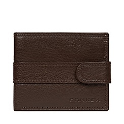 Conkca London - Dark Brown 'Roth' Leather RFID Wallet