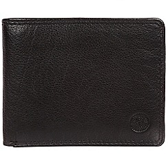 Conkca London - Black 'Moon' bi-fold leather wallet