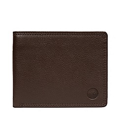 Conkca London - Dark Brown 'Moon' Leather RFID Wallet