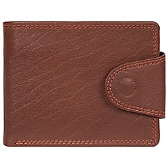 Conkca London - Conker brown 'Tyler' bi-fold leather wallet