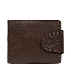 Conkca London - Dark Brown 'Tyler' Leather RFID Wallet