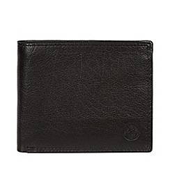 Conkca London - Black 'Edge' bi-fold leather wallet