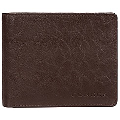 Conkca London - Dark brown 'Cobain' bi-fold leather wallet