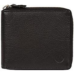 Conkca London - Black 'Morrison' zip round leather wallet