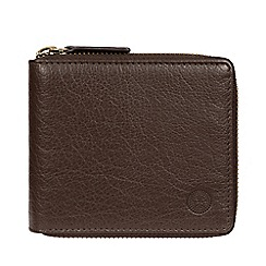 Conkca London - Dark Brown 'Morrison' Leather RFID Wallet
