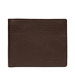 Conkca London - Dark Brown 'Conan' Leather RFID Wallet