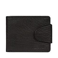 Conkca London - Black 'Heath' leather bi-fold wallet