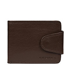 Conkca London - Dark Brown 'Heath' Leather Rfid Wallet