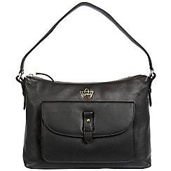 Portobello W11 - Black 'Tavistock' soft leather shoulder bag