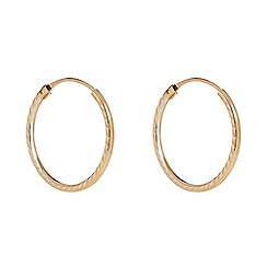 Pure Luxuries London - Gift packaged Oseye' 9-carat yellow gold hoop earrings