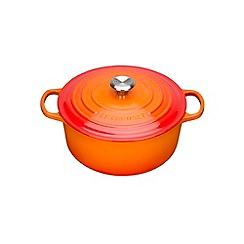 Le Creuset - Volcanic cast iron 'Signature' 20cm round casserole