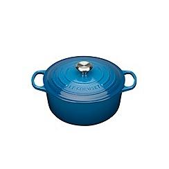 Le Creuset - Marseille blue cast iron 'Signature' 20cm round casserole