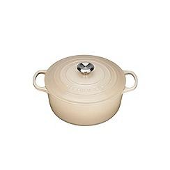 Le Creuset - Almond cast iron 'Signature' 20cm round casserole