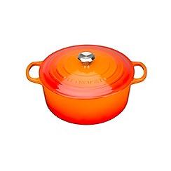 Le Creuset - Volcanic cast iron 'Signature' 24cm round casserole