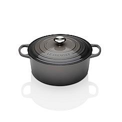 Le Creuset - Flint cast iron 'Signature' 24cm round casserole