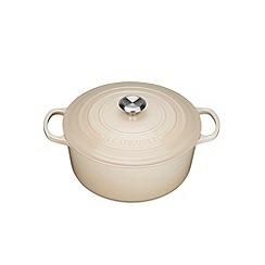 Le Creuset - Almond cast iron 'Signature' 24cm round casserole