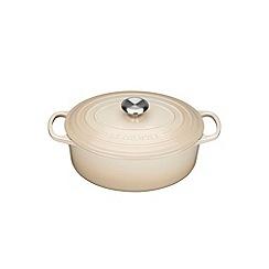 Le Creuset - Almond cast iron 'Signature' 25cm oval casserole