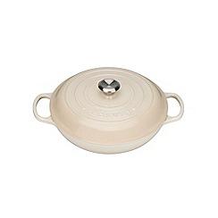 Le Creuset - Cream cast iron 'Signature' 26cm shallow casserole