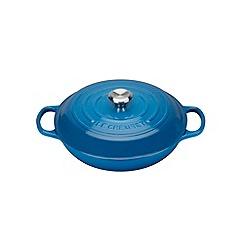 Le Creuset - Marseille blue cast iron 'Signature' 30cm shallow casserole