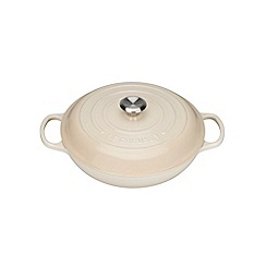 Le Creuset - Cream cast iron 'Signature' 30cm shallow casserole