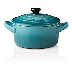 Le Creuset - Teal petite round casserole