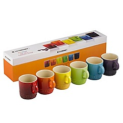 Le Creuset - Set of 6 rainbow espresso mugs
