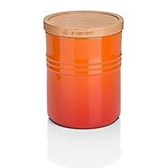 Le Creuset - Volcanic stoneware medium storage jar with wooden lid