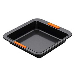 Le Creuset - Black toughened non-stick 23cm square cake tin