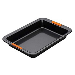 Le Creuset - Black toughened non-stick 28cm rectangular cake tin