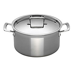 Le Creuset - 3-ply stainless steel 24cm deep casserole