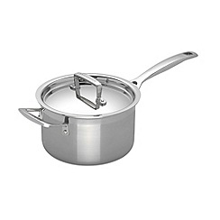 Le Creuset - 3-ply stainless steel 18cm induction saucepan