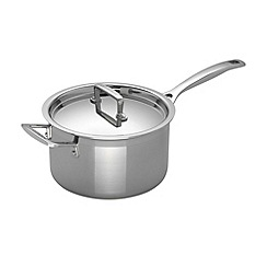 Le Creuset - 3-ply stainless steel 20cm induction saucepan