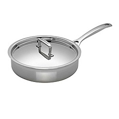 Le Creuset - 3-ply stainless steel 24cm induction saute pan