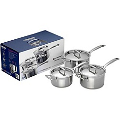 Le Creuset - 3 piece 3-ply stainless steel induction saucepan set