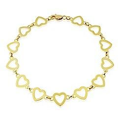 Love Story - 9ct gold heart bracelet