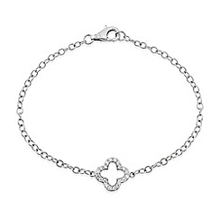 Precious Moments - Sterling silver ladies stone set bracelet