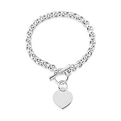 Love Story - Sterling silver t-bar bracelet