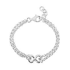 Love Story - Sterling silver infinity bracelet