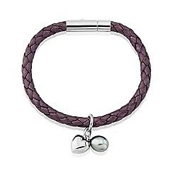 Love Story - Ladies Genuine Leather Berry Bracelet