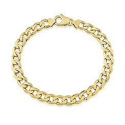 Love Story - 9ct Yellow Gold Gents Heavy Curb Bracelet