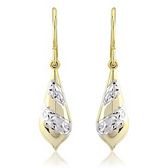 Love Story - Silver & yellow rhodium gold plated earrings