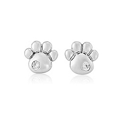 Pawprints - Sterling silver 'Pawprints' cz stud earrings